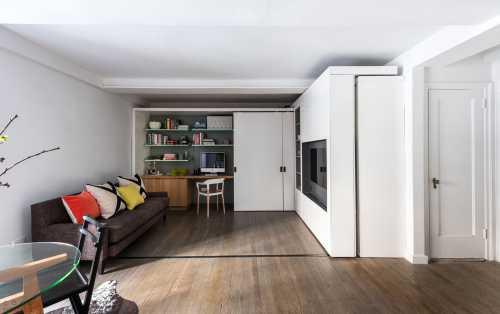 Трансформеры в дизайне: круглая гостиная с подвижными стенами