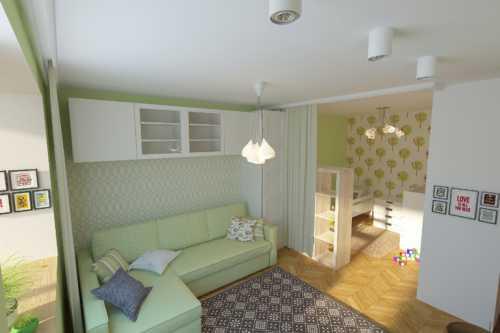 Просторная квартира для семьи с детками фото