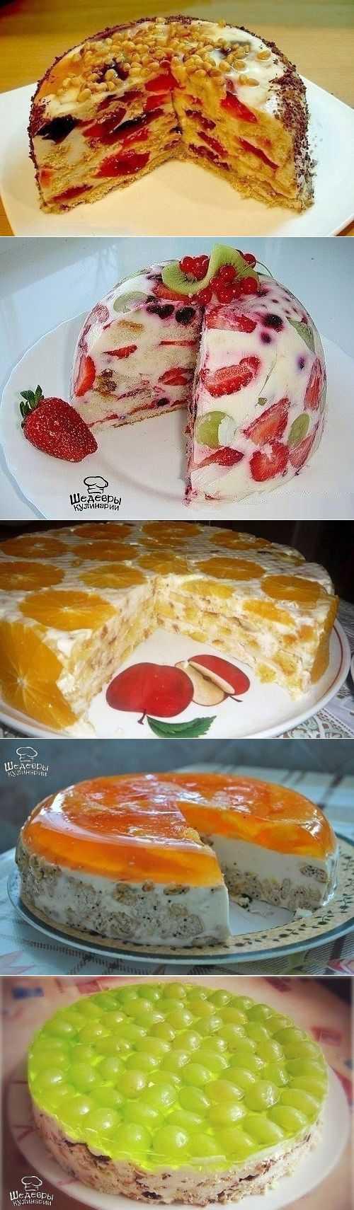 Лучшие торты без выпечки🍰