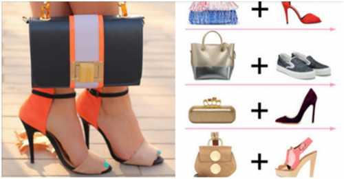 Подбор сумки к различной обуви