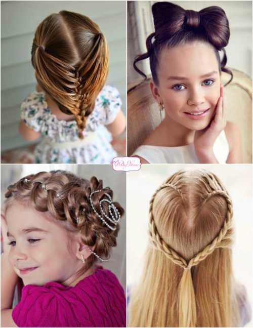 Причёски для девочек 10 лет фото: виды укладки,