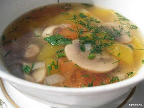 Первые блюда Суп из белых грибов