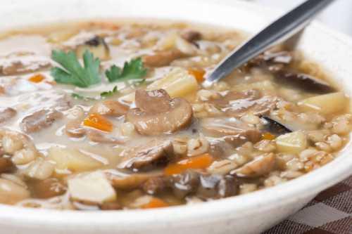 Рецепты грибного супа с перловкой, секреты выбора